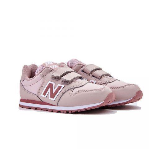 Sneaker Bambina New Balance Kids in Ecopelle Rosa - NBKV500LPY