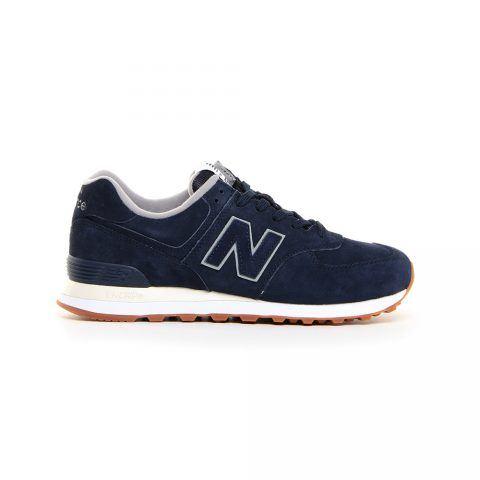 Sneaker Bassa Uomo New Balance in Camoscio Blu - NBML574EPA