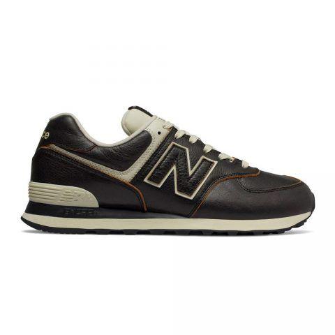 Sneaker Bassa Uomo New Balance in Pelle Nera - NBML574LPK