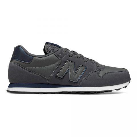 Sneaker Bassa Uomo New Balance in Tessuto Sintetico Grigio Scuro - NBGM500DGN