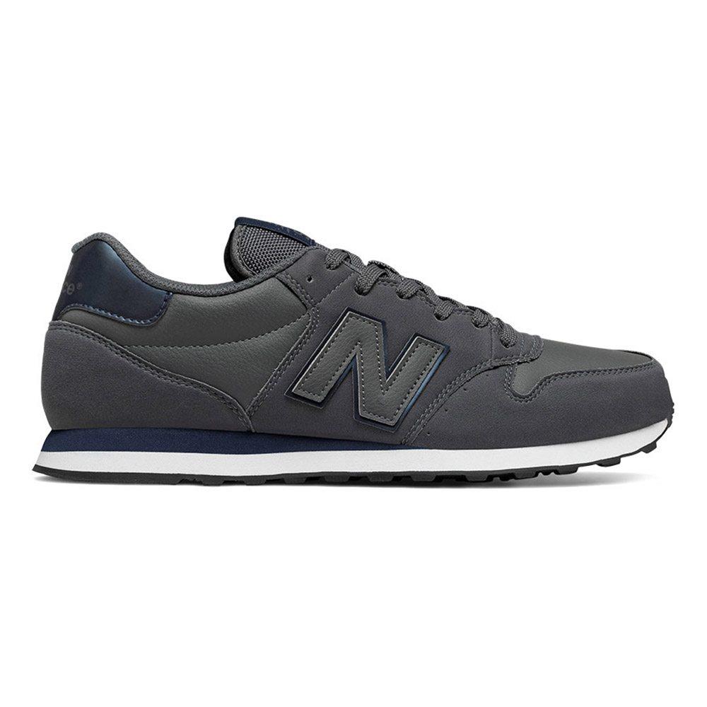 Detalles de Sneaker Bassa Uomo New Balance in Tessuto Sintetico Grigio Scuro NBGM500DGN