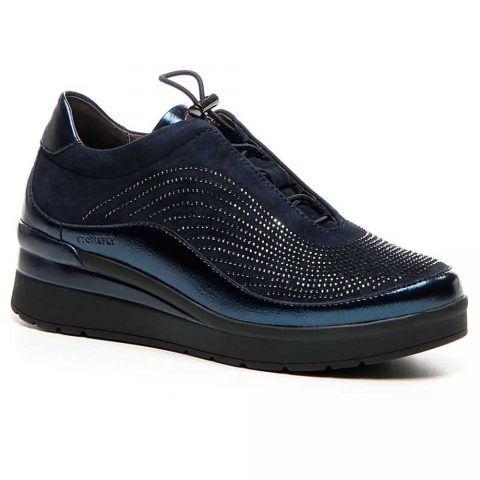 Sneaker Donna Stonefly Cream 2 in Camoscio con Strass Blu - 210330