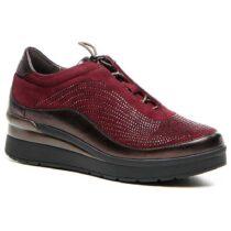 Sneaker Donna Stonefly Cream 2 in Camoscio con Strass Rossa - 210331