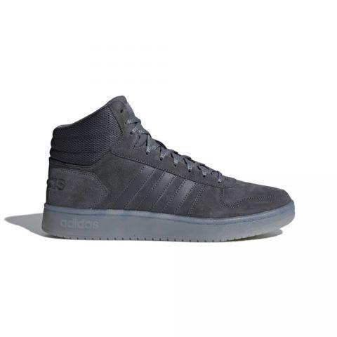 Sneaker Uomo Adidas Hoops 2.0 Mid Grigia - B44635