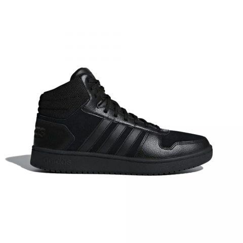 Sneaker Uomo Adidas Hoops 2.0 Mid Nera - B44649