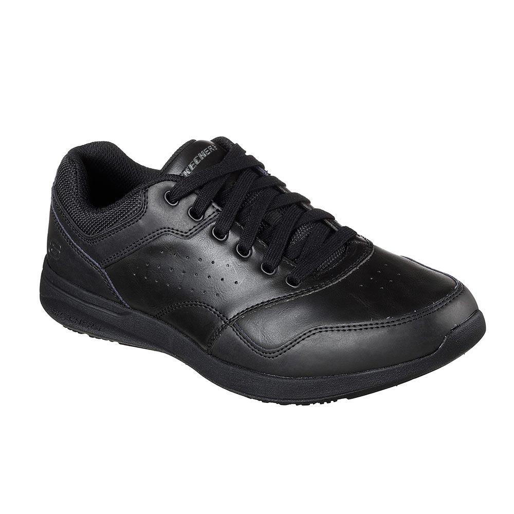 Sneaker Uomo Skechers in Pelle Nera