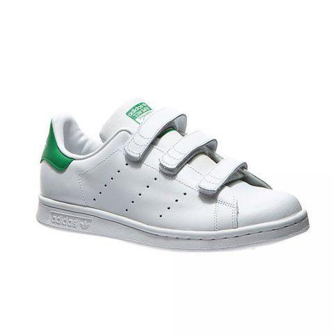 Scarpa Sportiva Bambino Adidas Stan Smith Bianca e Verde - S82702