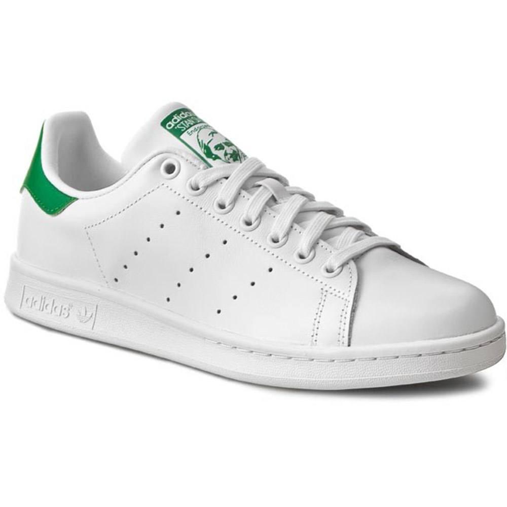 size 40 19a5f 0f8d2 Scarpa Sportiva Uomo Adidas Stan Smith Bianca e Verde