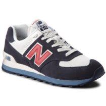 Sneaker Bassa Uomo New Balance in Pelle Blu e Rossa - ML574ESC