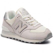 Sneaker Donna New Balance Beige in Pelle e Tessuto - WL574SSS