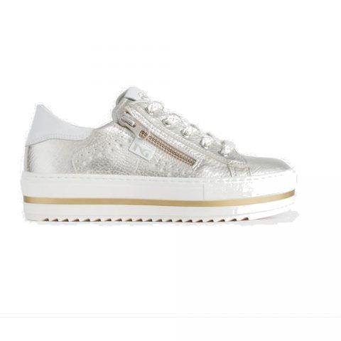 Sneaker Bambina Nero Giardini Junior in Pelle Oro - P931030F414