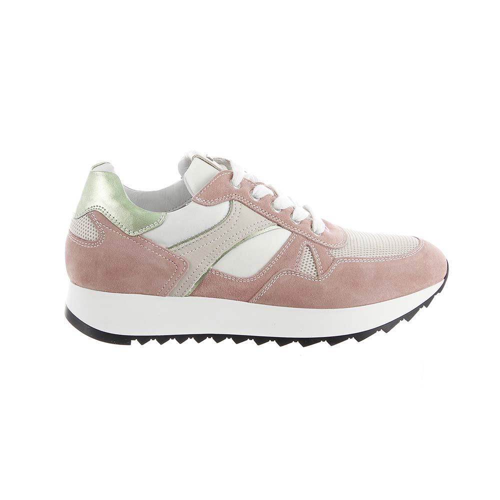 Sneaker Donna in Camoscio Peonia Rosa. Collezione Primavera Estate 2019 Nero  Giardini. ac13a5ef634