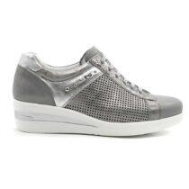 Sneaker Donna Nero Giardini in Pelle Grigia - P907502D105