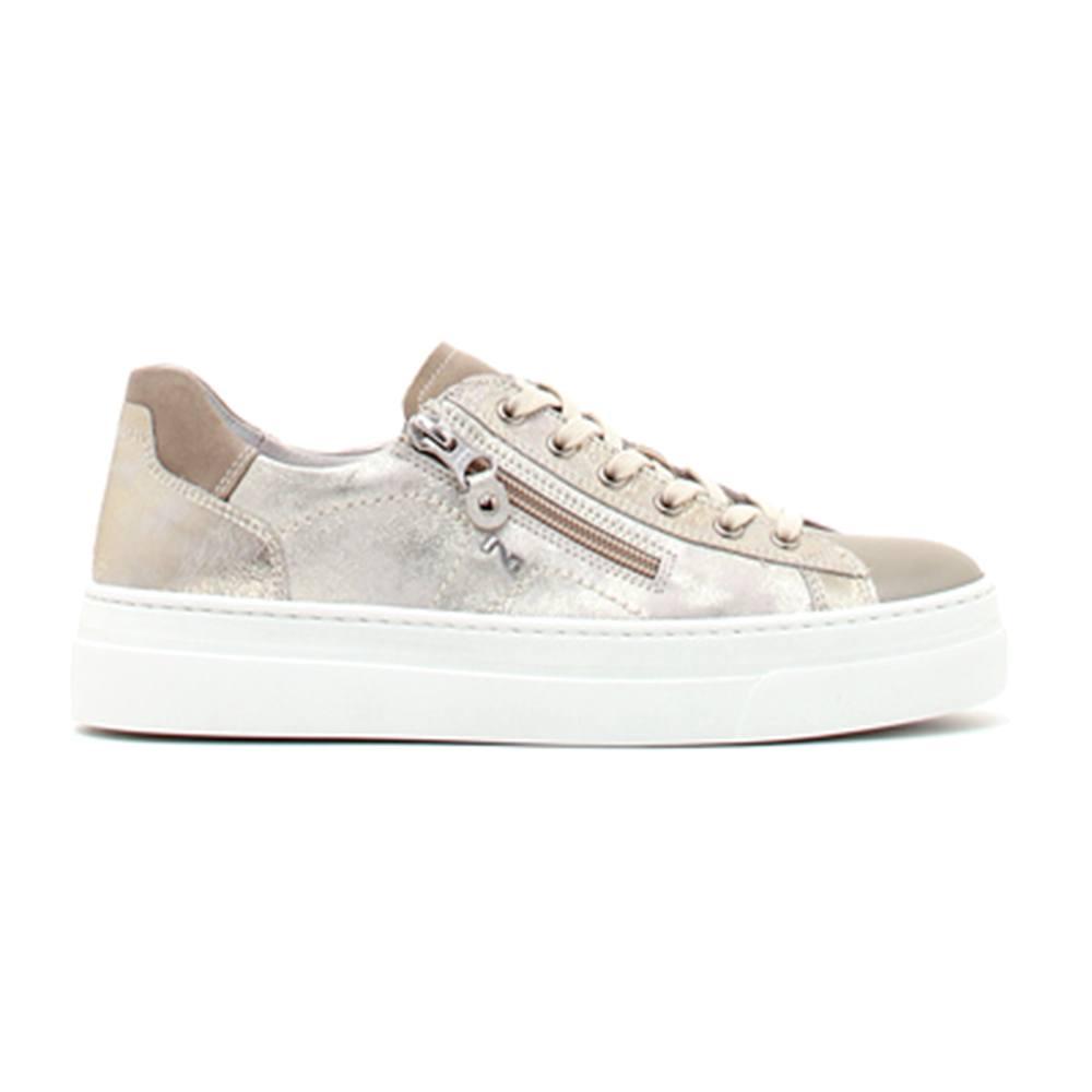 be23aeab04 Sneaker Donna Nero Giardini in Pelle Luxury Savana