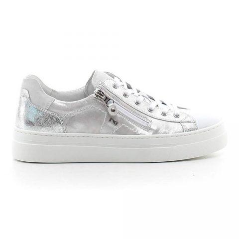 Sneaker Donna Nero Giardini in Pelle Luxury Silver - P907815D707
