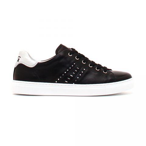 Sneaker Donna Nero Giardini in Pelle Nera con Strass - P907571D100