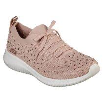 Sneaker Donna Skechers in Tessuto Rosa con Strass - 13099ROS