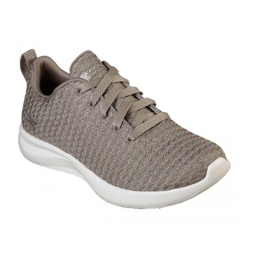 Sneaker Donna Running Skechers in Tessuto Taupe