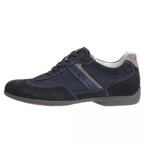 Sneaker Uomo Nero Giardini in Camoscio Blu - P900781U200