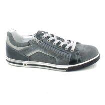 Sneaker Uomo Nero Giardini in Camoscio Jeans Grigia - P900870U214