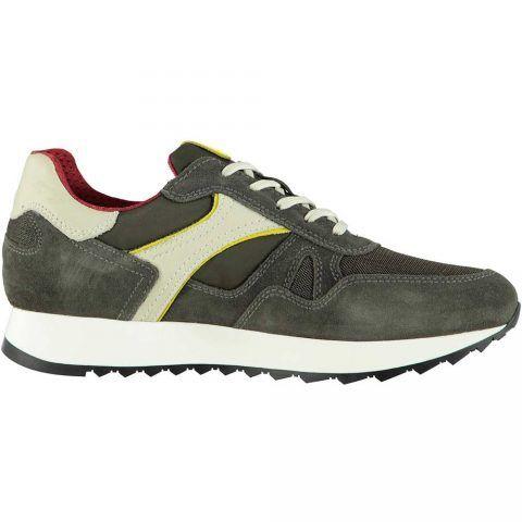 Sneaker Uomo Nero Giardini in Pelle Colorado Verde Oliva - P900941U522