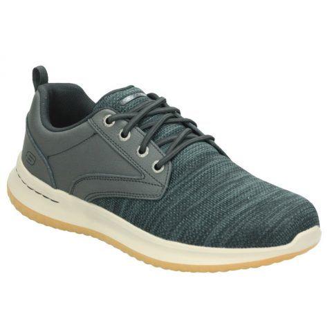 Sneaker Uomo Skechers in Tessuto Grigia - 65641BLK