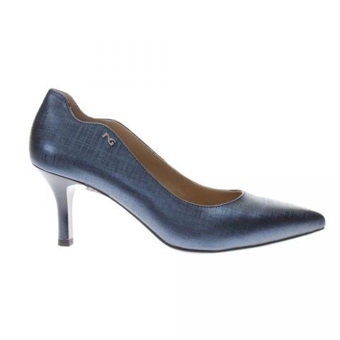 Decollete Basso Donna Nero Giardini in Pelle Blu Oceano - P907952DE201