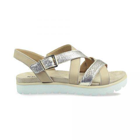 Sandalo Donna Igi&Co in Pelle Stampata Platino - 3167522