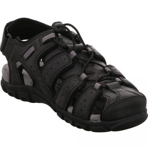 Sandalo Uomo Geox Strada Nero - U6224B OMEBC C9999