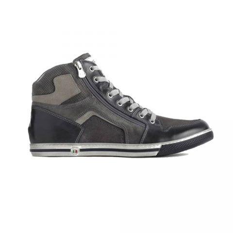 Sneaker Alta Uomo Nero Giardini in Camoscio Grigia - P900871U201