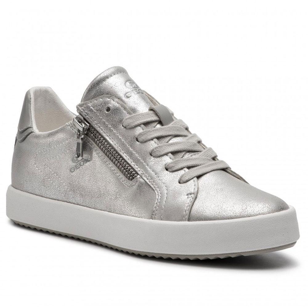 351de3aee1 Sneaker Donna Geox in Ecopelle Argento