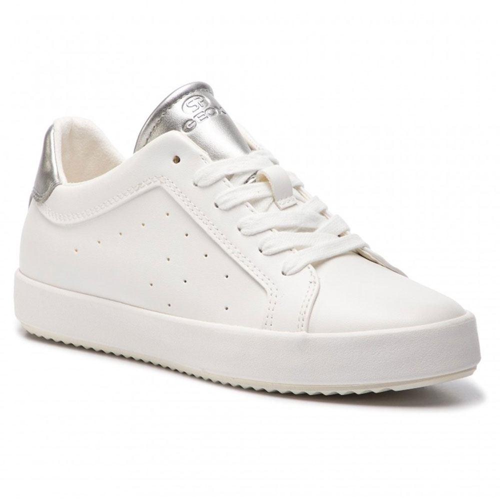 store cercare vasta gamma Sneaker Donna Geox in Ecopelle Bianca