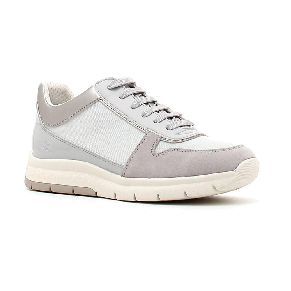 Donna Dettagli In Sneaker Ecopelle Geox 0ewhh Grigia D849gd C1010 Su e92EDYWIH