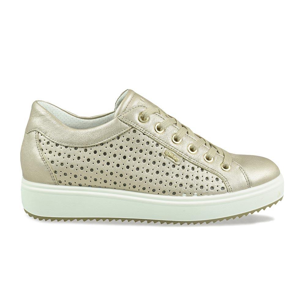 4f07db7563 Sneaker Donna Igi&Co in Pelle Laminata Beige - 3154733