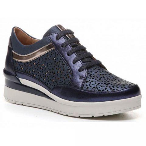 Sneaker Donna Stonefly Cream 11 Laminata Blu - 210810 09K