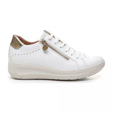 Sneaker Donna Stonefly Rock 4 in Nappa Bianca - 210773 010