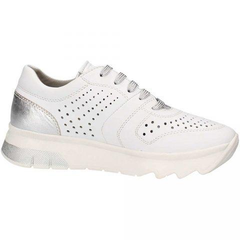 Sneaker Donna Stonefly Spock 10 in Nappa Bianca - 211737 010