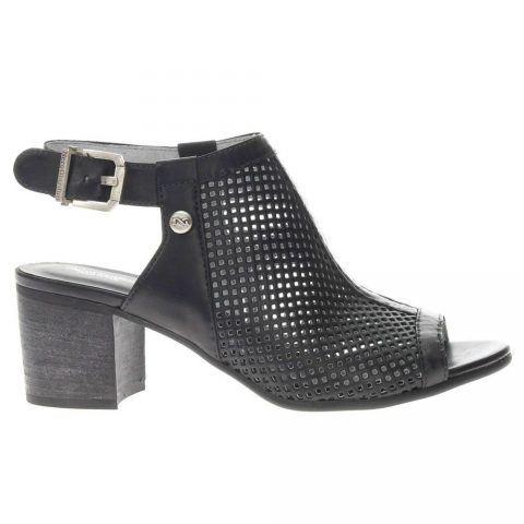 Sandalo Spuntato Donna Nero Giardini in Pelle Nero - P908170D100
