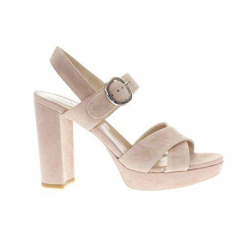 Sandalo con Tacco Donna Nero Giardini in Camoscio Phard - P908273D660