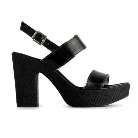 Sandalo con TaccoDonna Nero Giardini in Pelle Nero - P908122D100