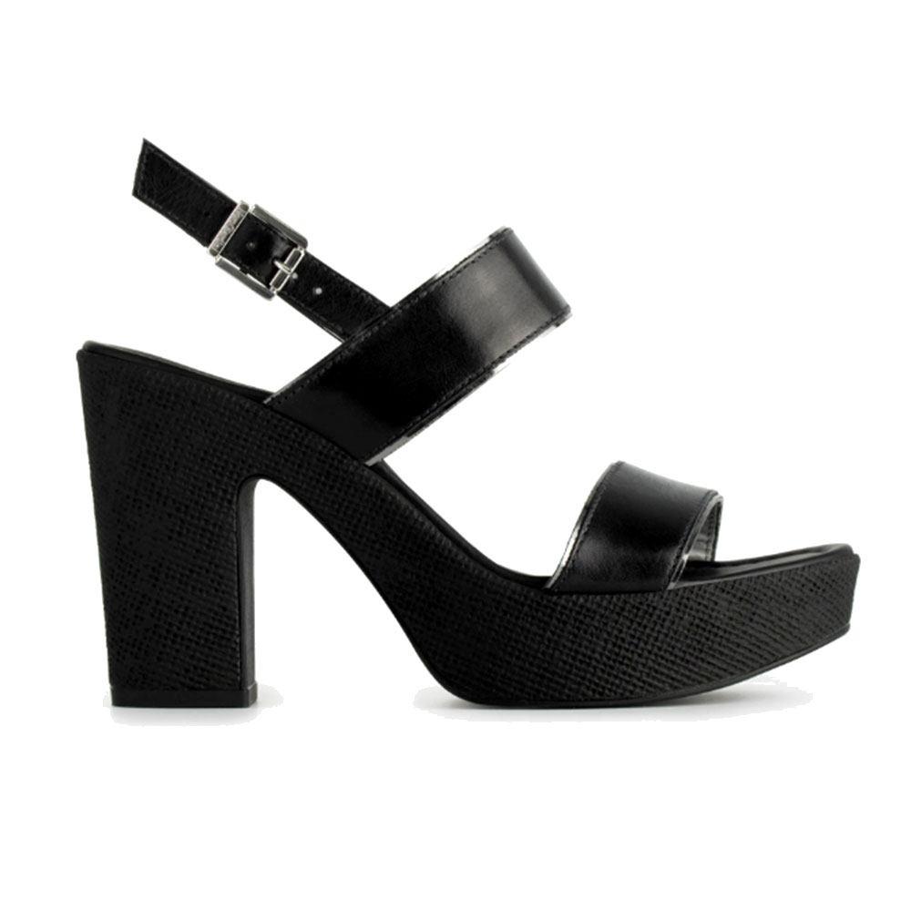 Sandalo Donna Pelle Con In Nero Tacco Giardini pMUSzV