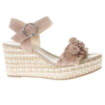 Sandalo con Zeppa Donna Nero Giardini in Camoscio Phard - P908130D660