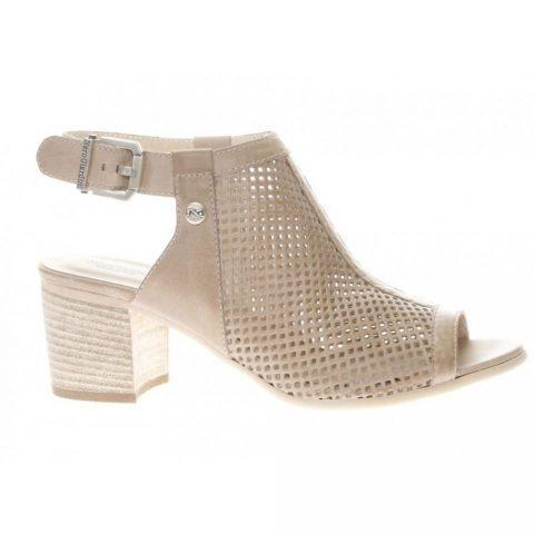 Sandalo con Zeppa Donna Nero Giardini in Pelle Champagne - P908170D439