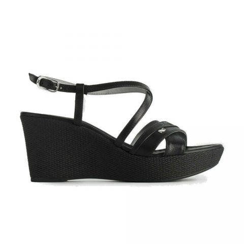 Sandalo con Zeppa Donna Nero Giardini in Pelle Nero - P908112D100