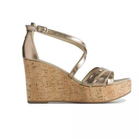 Sandalo con Zeppa Donna Nero Giardini in Pelle Sandalo - P908141D434