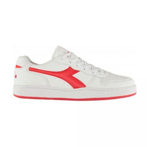 Sneaker Uomo Diadora Playground Bianca e Rosso - 1011723190145041