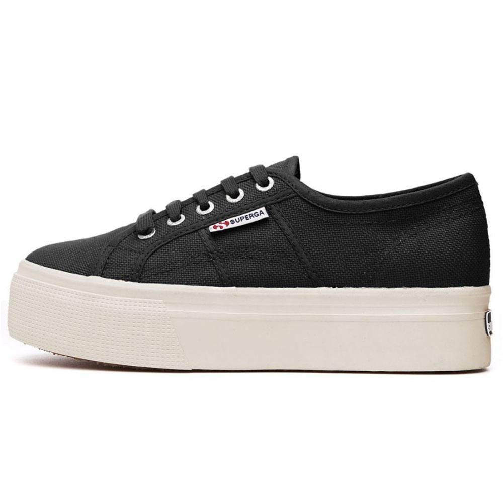 free shipping 9f1e8 36213 Sneaker Donna con Zeppa Nera Superga