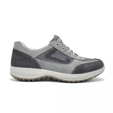 Sneaker Uomo Grisport in Camoscio Grigia - 8601SV34MA