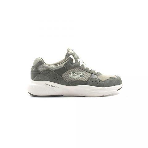 Sneaker Uomo Skechers Meridian in Camoscio Verde - 52952OLV