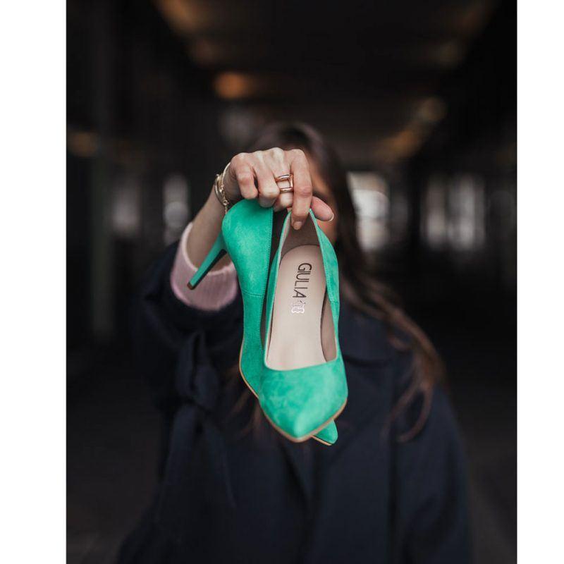 Decollete Donna Giulia Finta Pelle Verde - ANTEGREEN